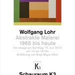 Ausstellung Wolfgang Lohr im Schauraum K3