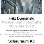Fritz Dumanski im Schauraum K3